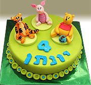 Yonatan 4th birthday cake - kindergarten party